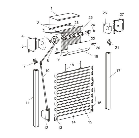 Roleta zewnętrzna - Standard z moskitierą